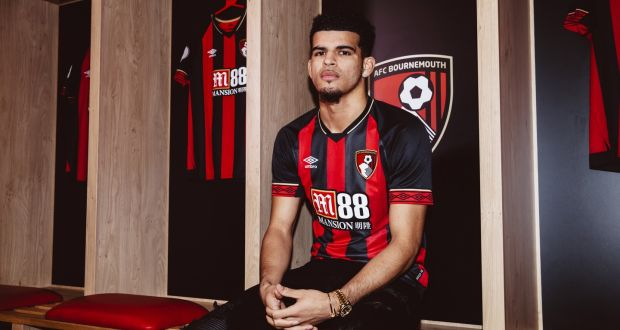 Image of Dominic Salanke sat in AFC Bournemouth's changing room - For Millsy's View Article on his transfer