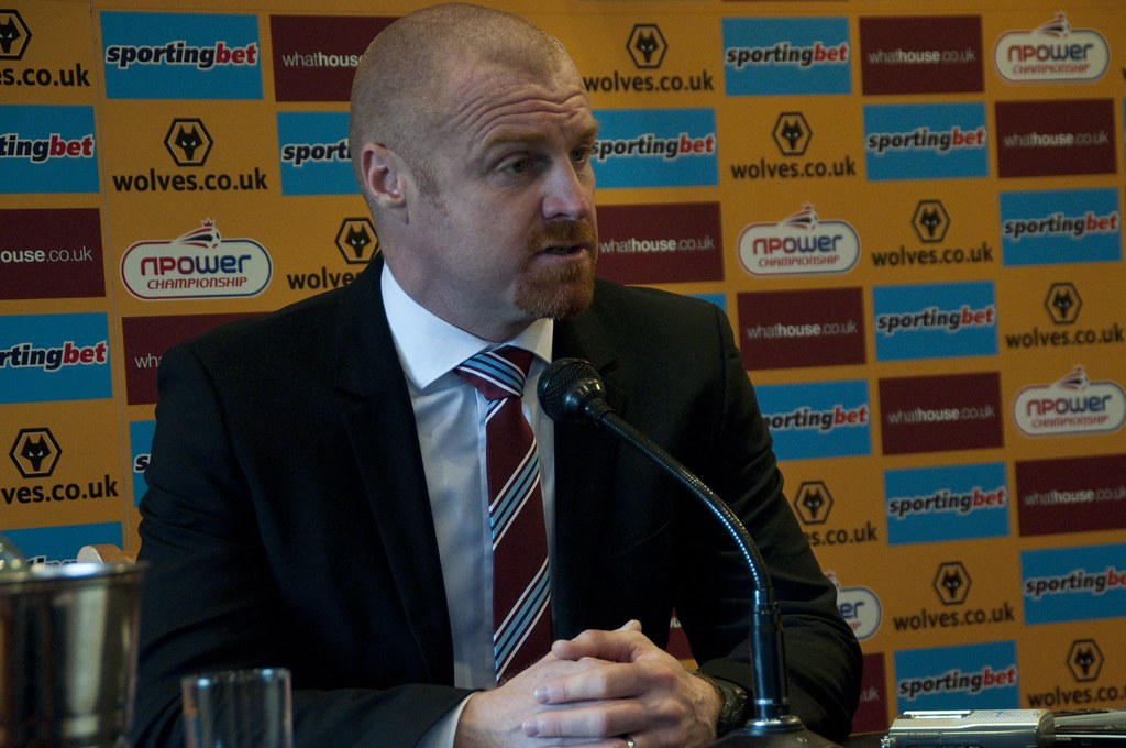 Sean Dyche in a press conference at Wolves